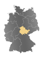 Deutschlandkarte Thüringen