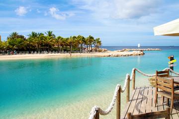Fototapeten Karibik Mambo Beach auf Curacao