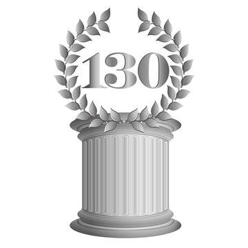 130-Lorbeerkranz auf Säule