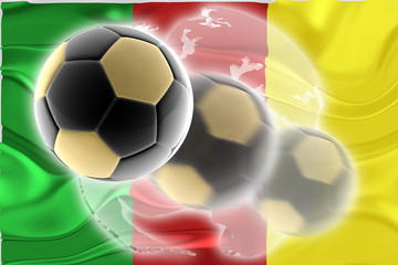 Flag of Cameroon wavy soccer website