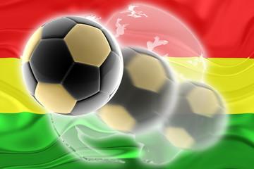 Flag of Bolivia wavy soccer website