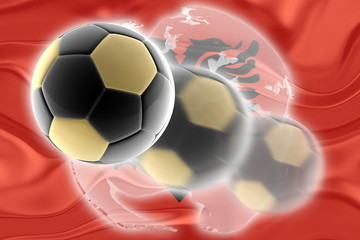 Flag of Albania,  wavy soccer website