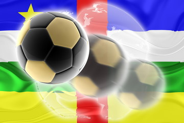 Flag of Central African Republic wavy soccer website
