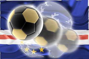 Flag of Cape Verde wavy soccer website