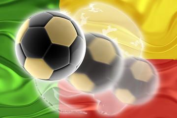 Flag of Benin wavy soccer website