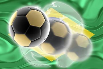 Flag of Brazil wavy soccer website