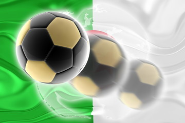 Flag of Algeria wavy soccer website