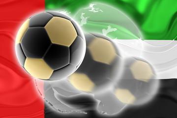 United Arab Emirates flag wavy soccer website