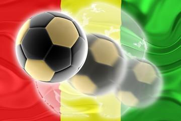 Flag of Guinea wavy soccer website
