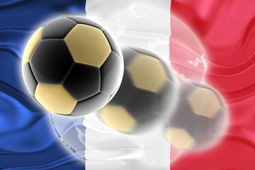 Flag of France wavy soccer website