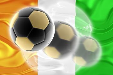 Flag of Ivory Coast wavy soccer website