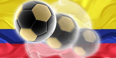 Flag of Ecuador wavy soccer website