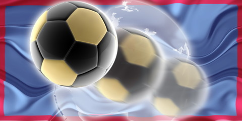 Flag of Guam wavy soccer website