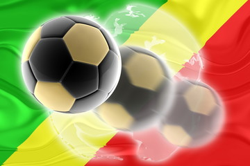 Flag of Congo wavy soccer website