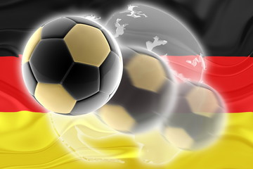 Flag of Germany wavy soccer website