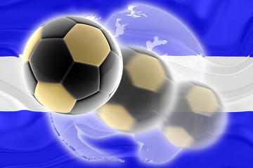 Flag of El Salvador wavy soccer website