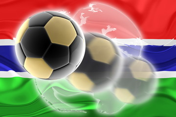 Flag of Gambia wavy soccer website