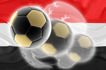 Flag of Egypt wavy soccer website