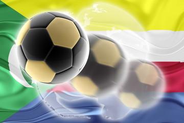 Flag of Comoros wavy soccer website