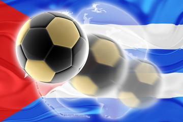 Cuba flag wavy soccer website