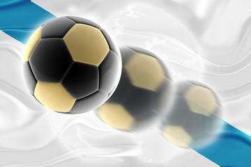 Flag of Galicia Spain wavy soccer website