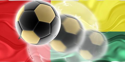 Flag of Guinea Bissau wavy soccer website
