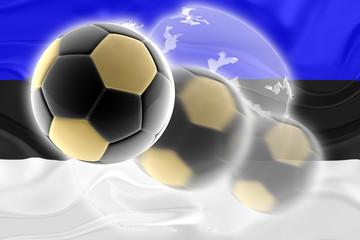 Flag of Estonia wavy soccer website