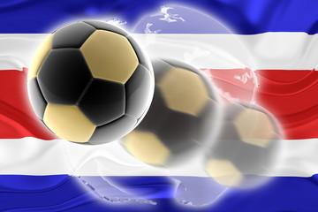 Flag of Costa Rica wavy soccer website