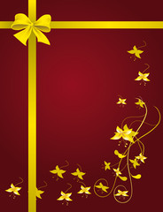 Red packet with a yellow ribbon