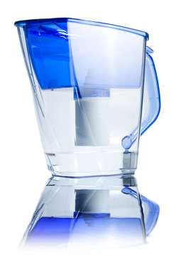 Clear water filter pitcher