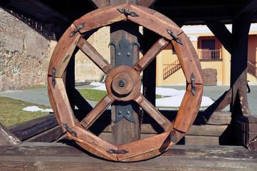 ancient wooden wheel