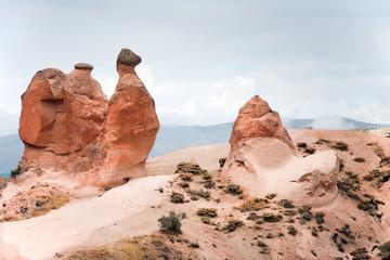 Camel rock formation  in Cappadocia  / Turkey