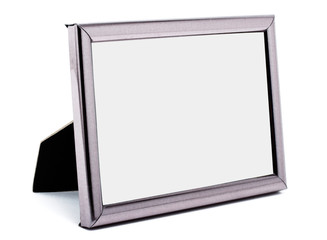 Empty metal picture frame isolated