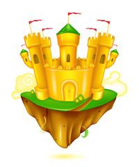 Door stickers Castle Flying castle