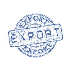 Export grunge rubber stamp
