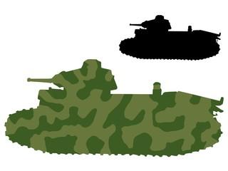 Keuken foto achterwand Militair old tank