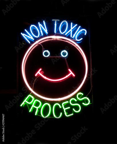 quotquotnon toxicquot neon signquot stock photo and royaltyfree