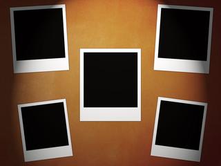 five instant photos