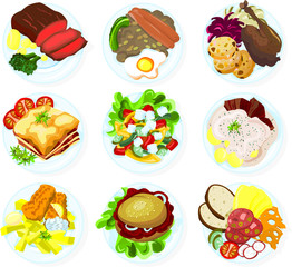 Set of food on a plate - 02