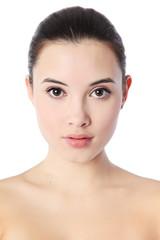 Woman face. Natural beauty portrait.