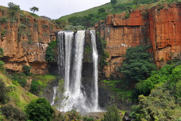 Tuinposter Afrika Waterval Boven waterfall