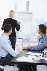 Business people on presentation