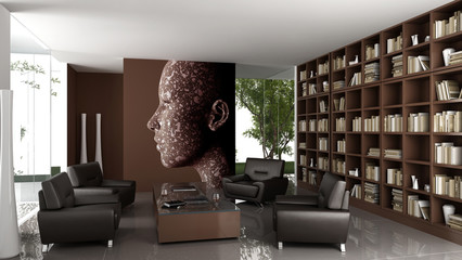 Contemporary designed private bibliothek