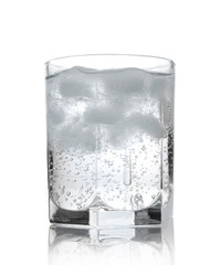 Water in a glass with ice