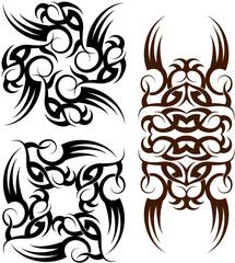Tribal tattoo armband set