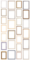 Twenty six antique picture frames. High resolution