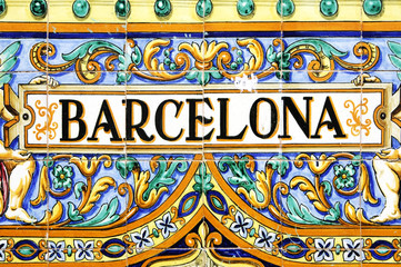Photo sur Aluminium Barcelone barcelona sign