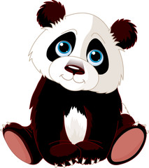 Keuken foto achterwand Beren Sitting Panda