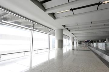 modern corridor in building