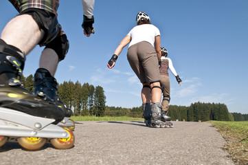 unterwegs beim Inline-Skaten